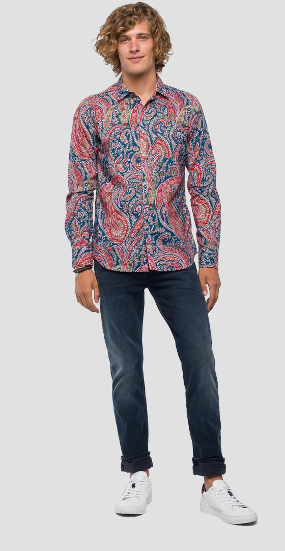 Shirt with paisley print m4953w.000.71720