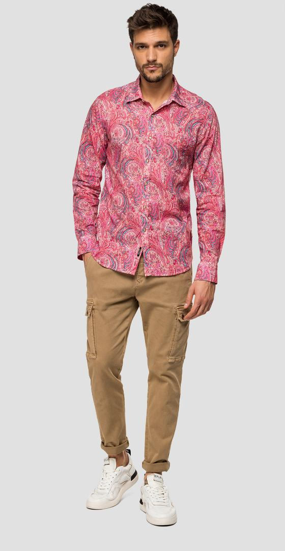 Cotton shirt with paisley print m4953w.000.71988
