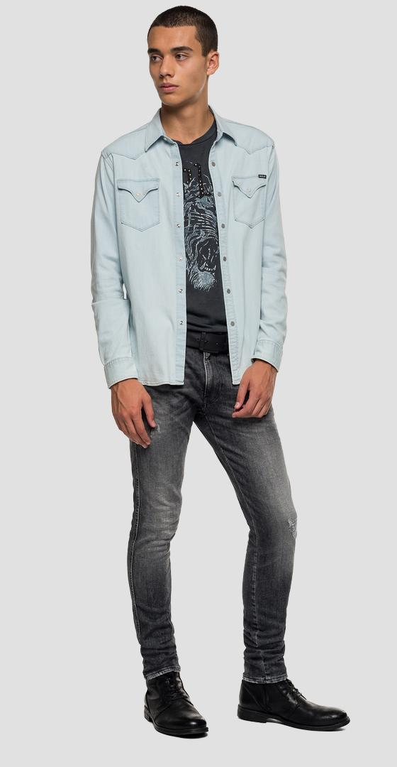 Denim shirt with pockets m4960 .000.165 618