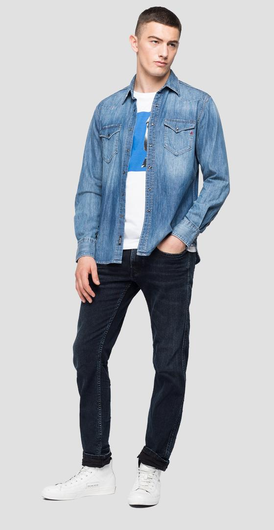 REPLAY denim shirt with pockets m4981 .000.26c 743