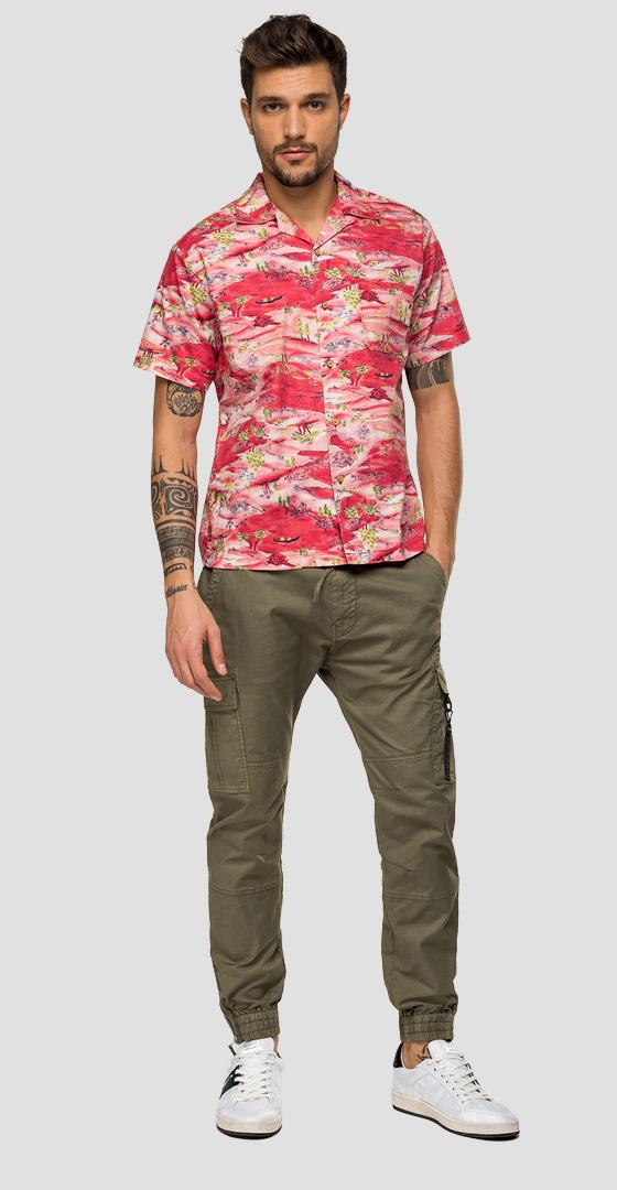 Short-sleeved printed shirt m4985 .000.71996