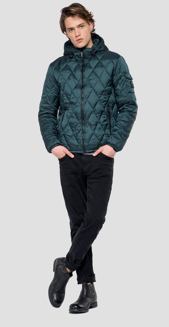 Padded jacket with hood m8001 .000.83406