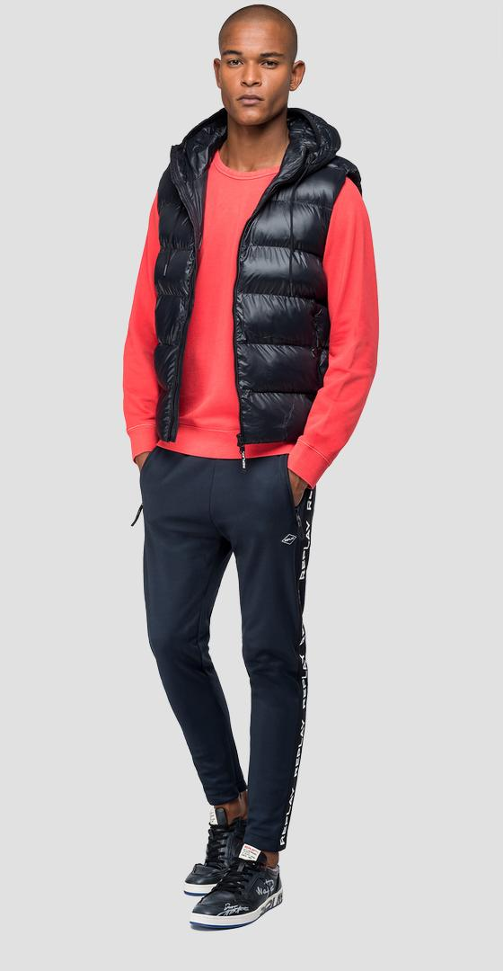 Down vest with hood m8005 .000.83408