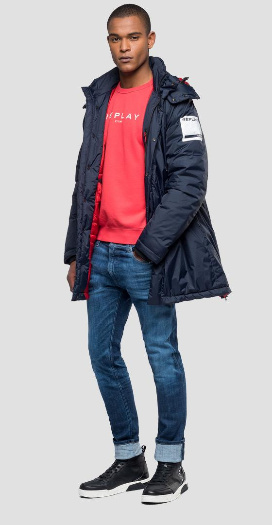 Padded parka with hood m8013 .000.83418k