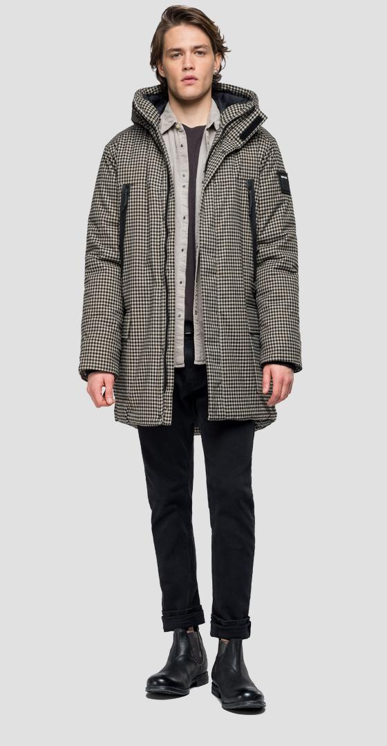 Padded checked parka m8015 .000.52140