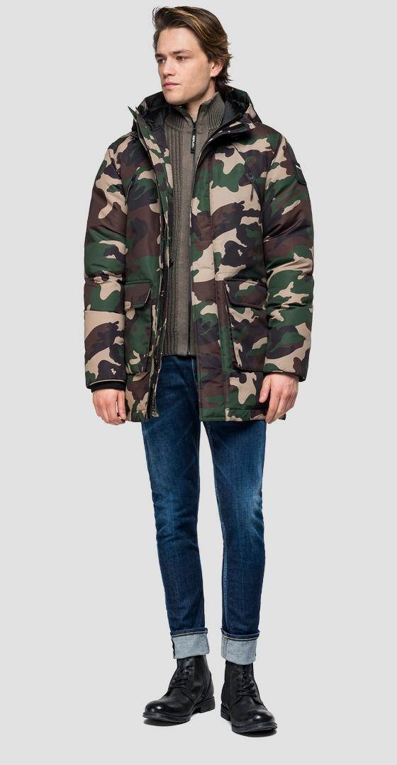 Jacket with camouflage print m8018 .000.71798