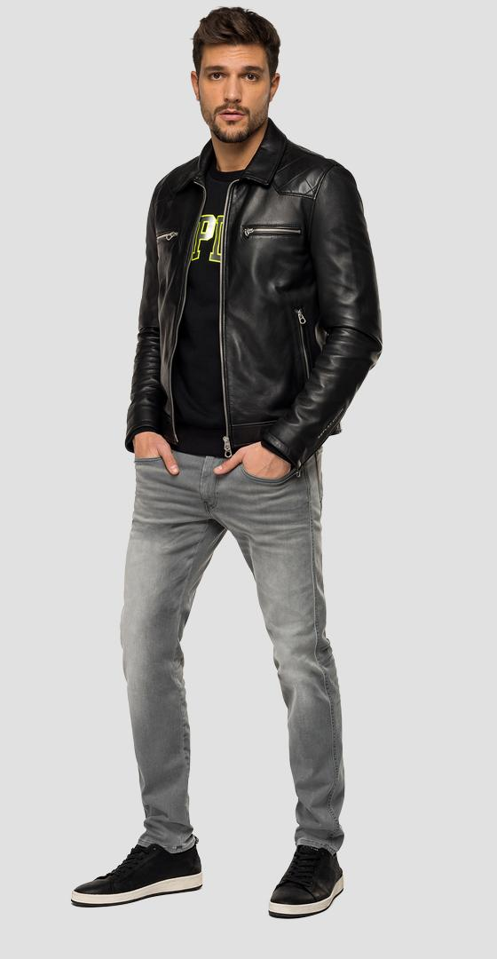 Biker jacket in soft quilted leather m8059 .000.83706