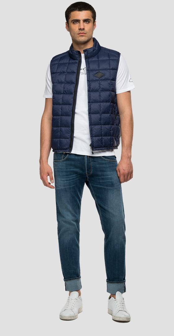 Quilted turtleneck waistcoat in recycled nylon m8083a.000.83966r
