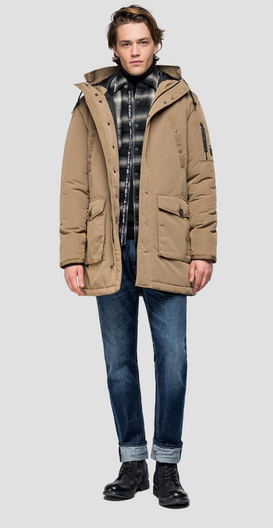 Multi-pocket jacket with hood m8931a.000.83422