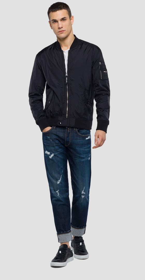 Technical bomber jacket with zipper m8969 .000.83304