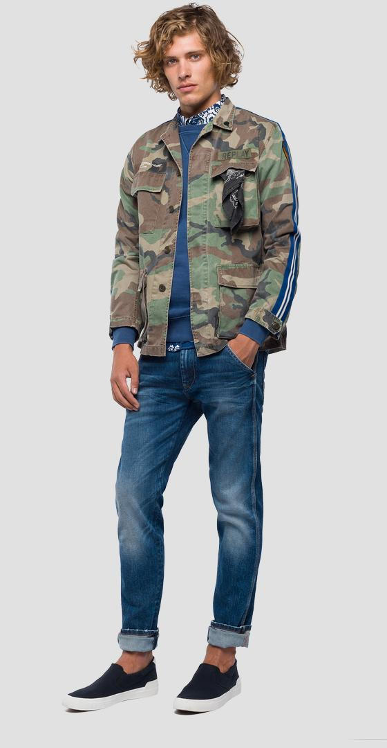 Jacket with camouflage print m8978 .000.71638