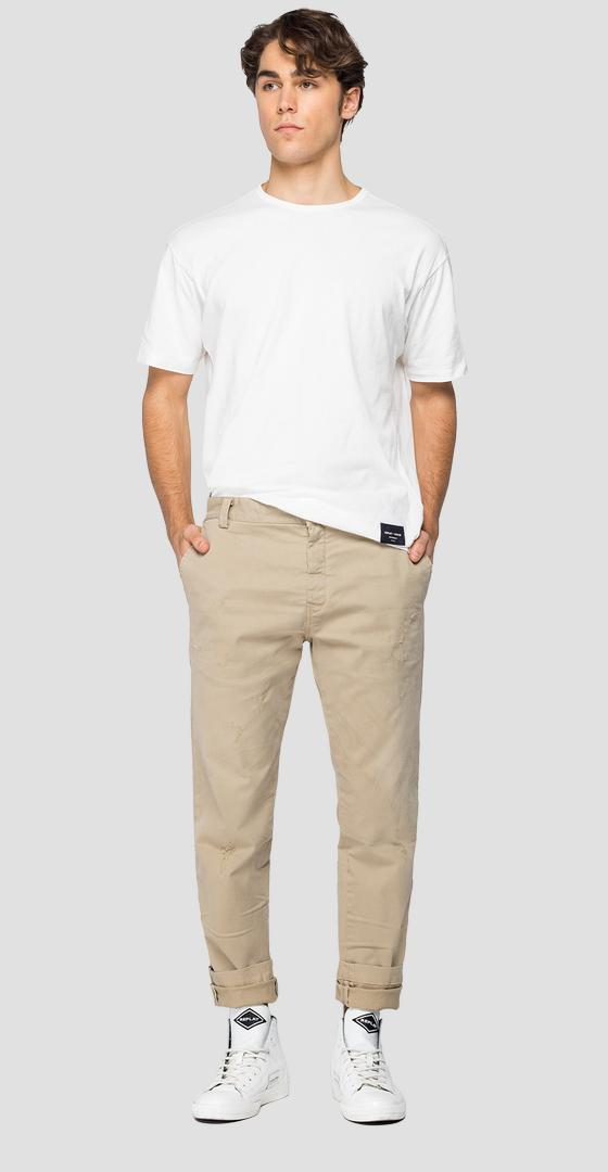 Tailored chino trousers m9676 .000.8087950