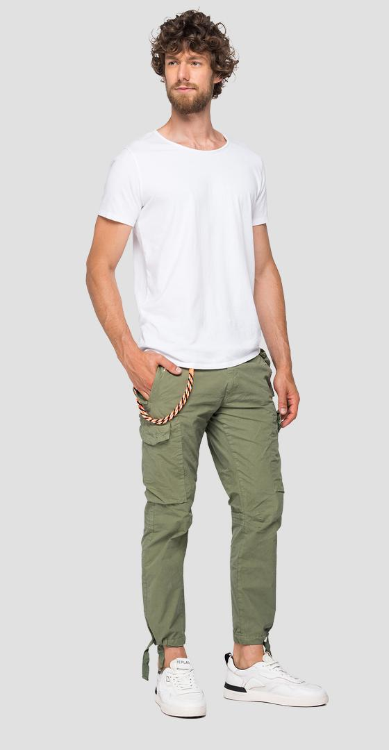 Cargo trousers with straps and chain m9689 .000.8366932