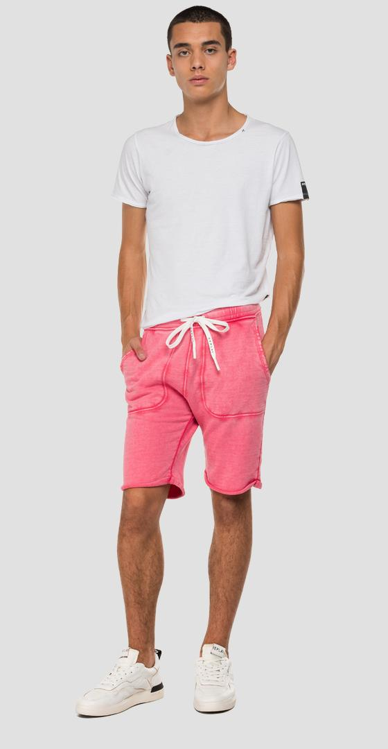 Fleece bermuda shorts with faded effect m9702 .000.22738g
