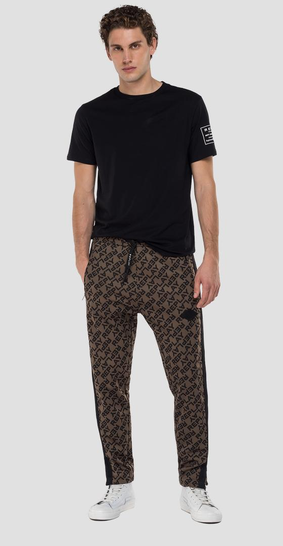 Trousers with all-over jacquard print m9723a.000.52356