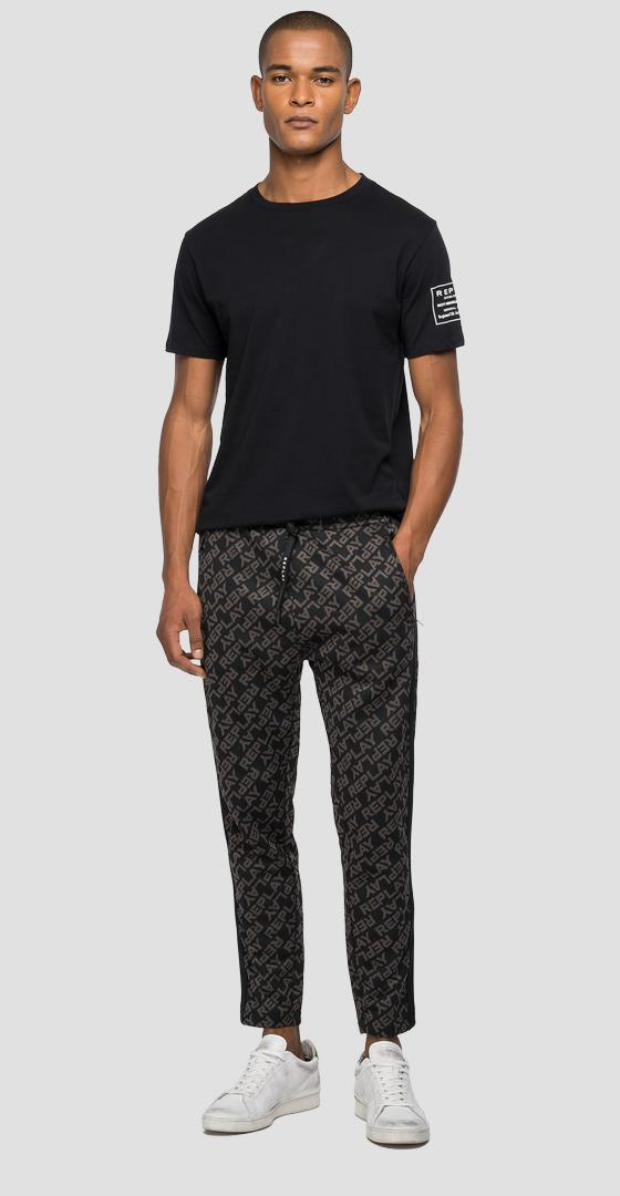 REPLAY slim fit jogger pants with jacquard pattern m9743 .000.52418