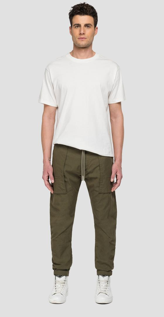 REPLAY SPORTLAB jogger pants in cotton twill m9767 .000.s84146