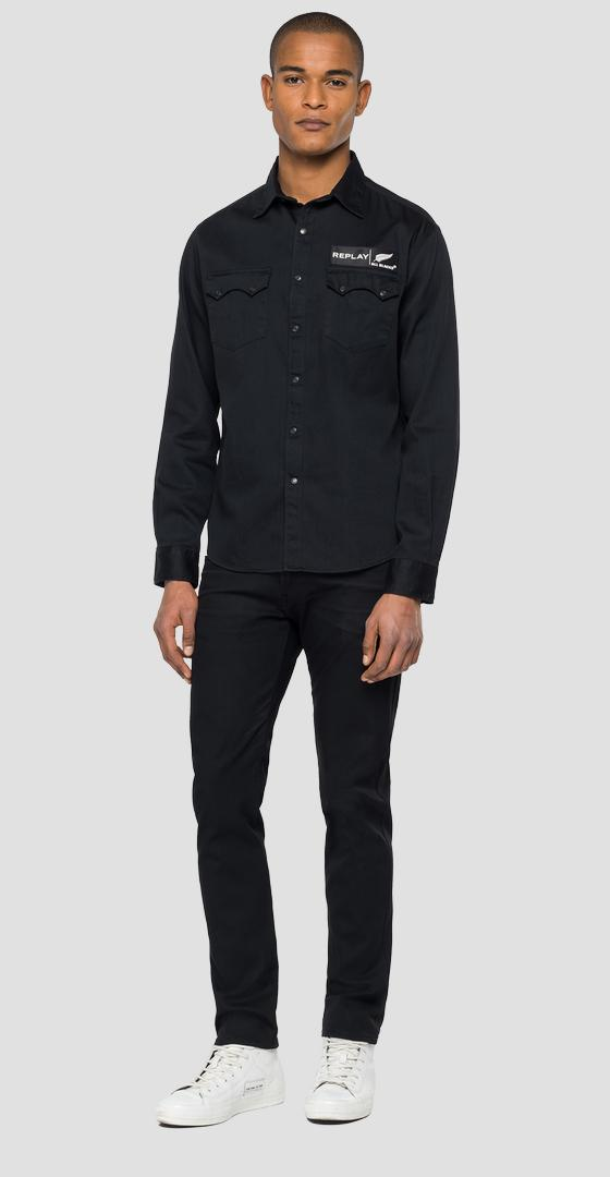 REPLAY ALL BLACKS DENIM SHIRT mab402.000.178 z17