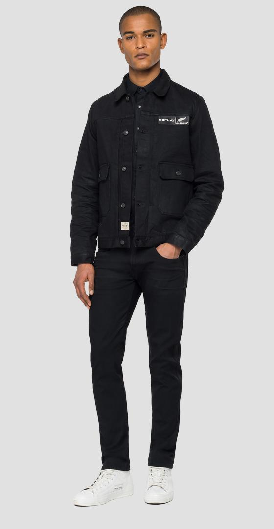 GIUBBOTTO IN DENIM REPLAY ALL BLACKS mab860.000.263 z01