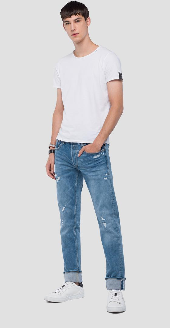 Straight fit Grover jeans mca972.000.121 473