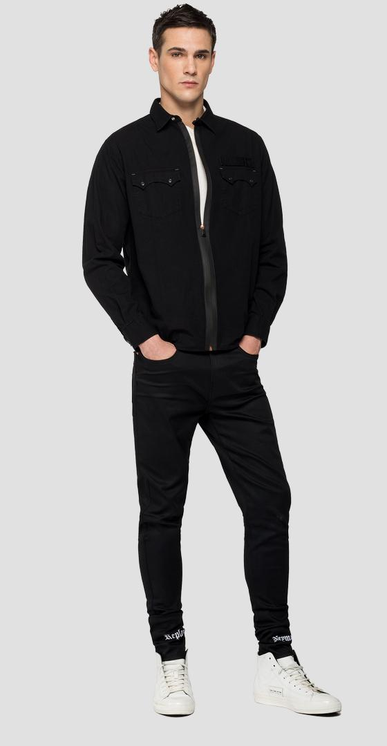 Chemise en denim noir REPLAY NEYMAR NJR Capsule Collection nj402z.000.178nj03
