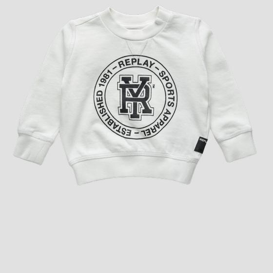 Sweat-shirt en pur coton logo RY pb2036.050.22072