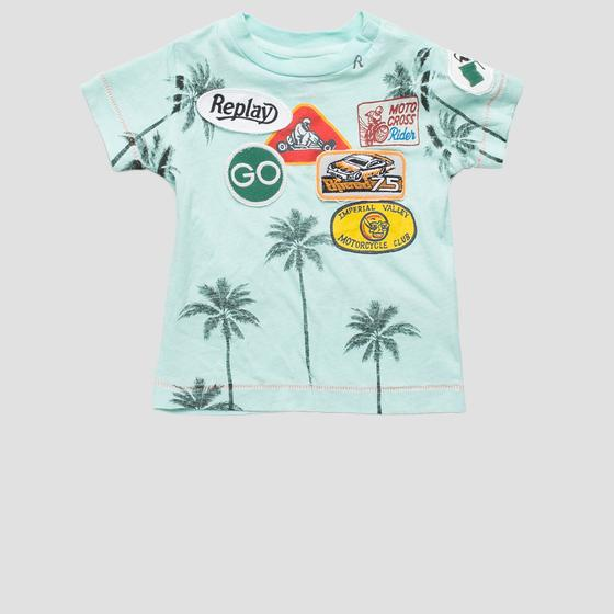 T-shirt with palm trees print pb7301.063.22660g