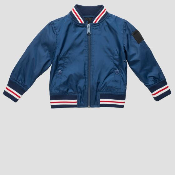 Striped technical bomber jacket pb8160.050.82692