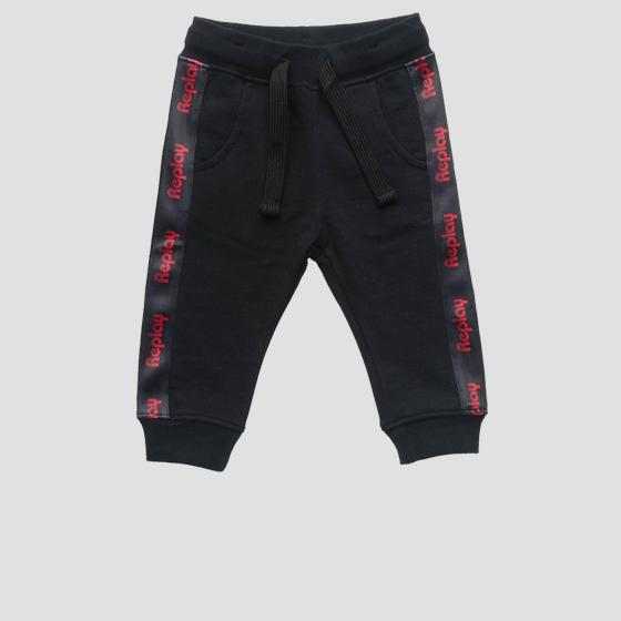 Fleece trousers with writings pb9013.050.20372c