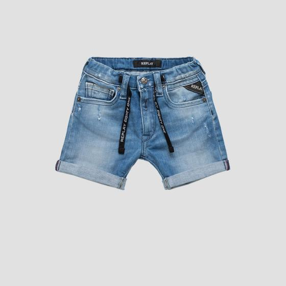 Denim shorts with drawstring pb9502.050.115 254