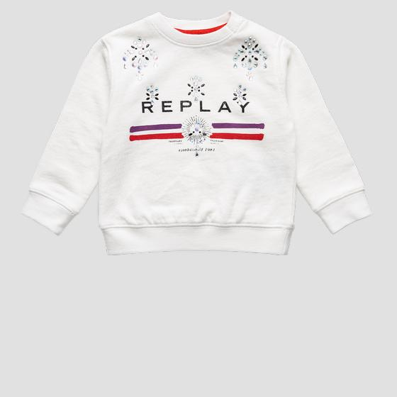 Sweatshirt with rhinestones pg2079.052.20990