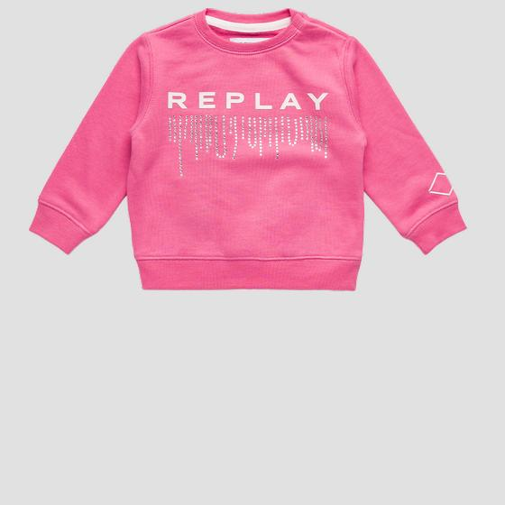 REPLAY sweatshirt with rhinestones pg2079.054.22964