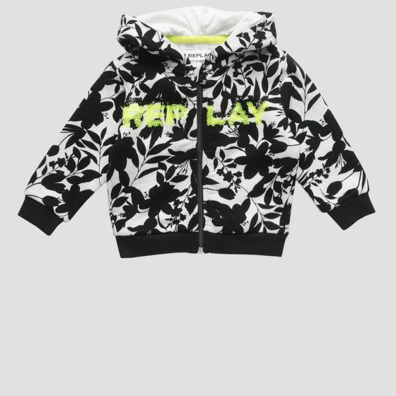 Sweatshirt with print and sequins pg2416.050.22072ka