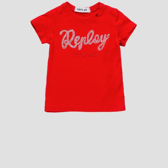 REPLAY t-shirt with rhinestones pg7472.055.22858