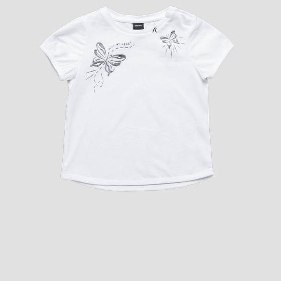 T-shirt with butterflies print pg7481.050.22536p