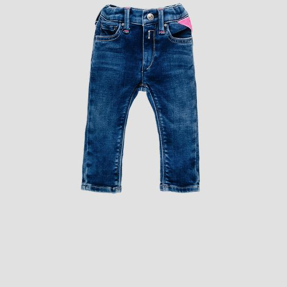 Denim pants with faded effect pg9208.081.291 455