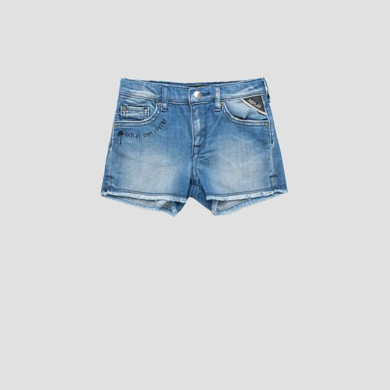 Denim shorts with raw cut pg9583.050.115 401
