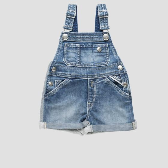 Denim and fleece dungarees pg9707.050.102503