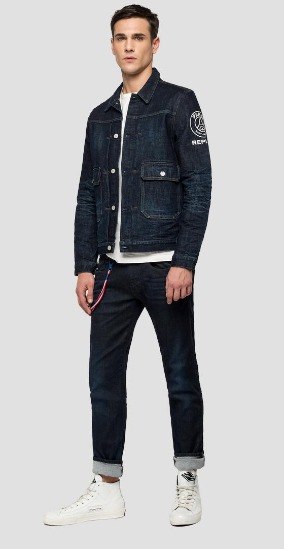 Raw Denim-Jacke Replay PSG psg860.000.281 g74