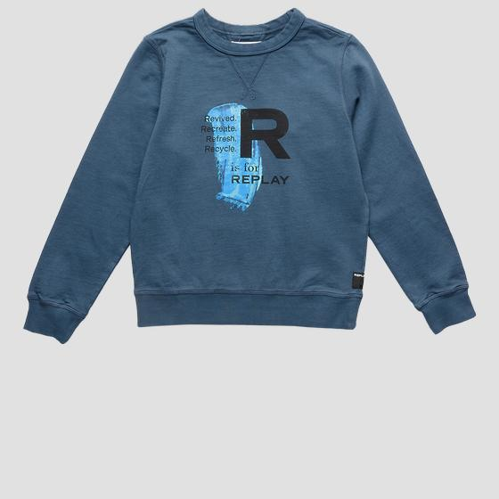 Crewneck REPLAY sweatshirt in bio cotton sb2026.061.22990b
