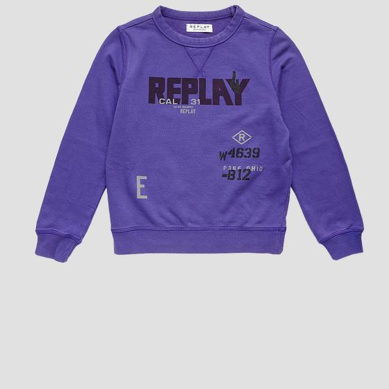 Rundhals-Sweatshirt REPLAY WEAR AND SAVE sb2026.063.22990