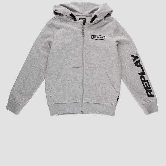 Replay hoodie with zipper sb2440.050.22739