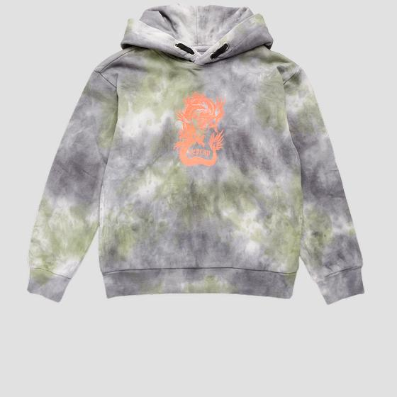 Tie dye REPLAY cotton sweatshirt sb2445.050.23164
