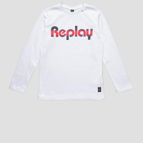 Long-sleeved REPLAY t-shirt sb7060.087.22784