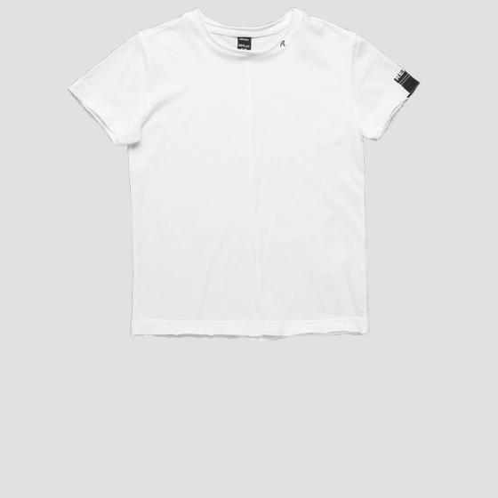 Basic t-shirt with raw cut sb7528.010.2660
