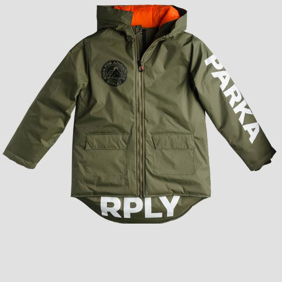 Technical parka with writings sb8159.050.83418k