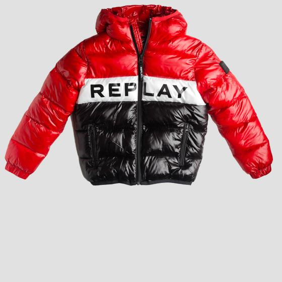 Padded jacket with writing sb8164.050.83420
