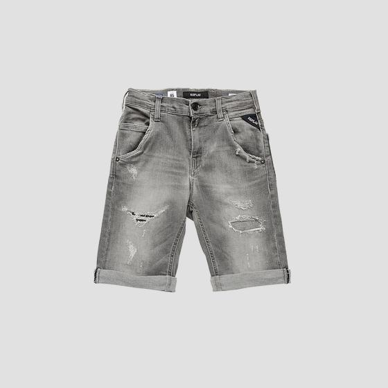 Slim fit low crotch denim bermuda shorts sb9628.054.249 345