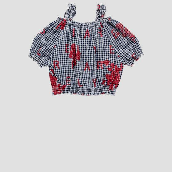 Cami top with gingham pattern sg1709.050.52274