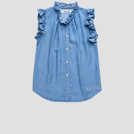 Sleeveless shirt with ruffles sg1711.050.50103